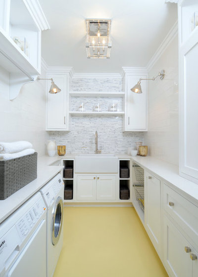 Transitional Laundry Room by Luxe Design Build