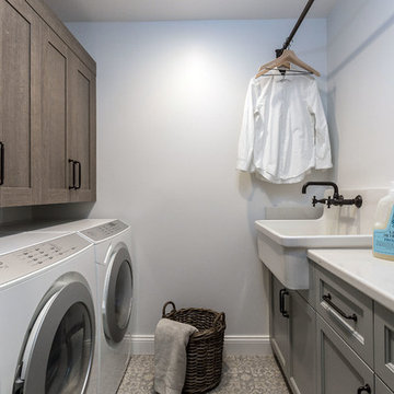 Patterned Tile Laundry Room - June Way Project
