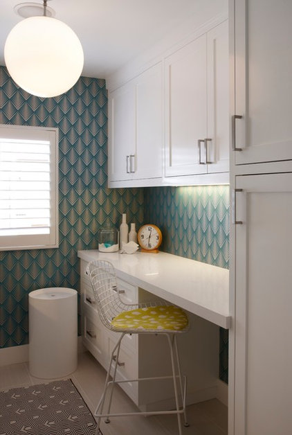 Transitional Laundry Room by Eric Aust Architect