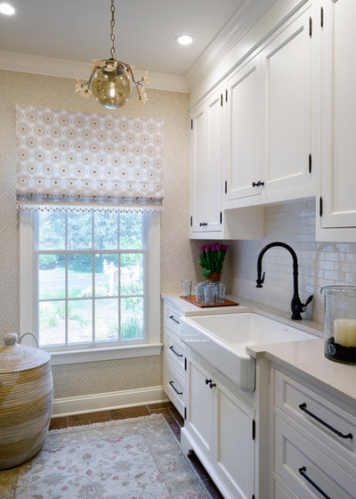 Transitional Utility Room by AJ Margulis Interiors