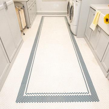 Penny TIle Floor Border Design