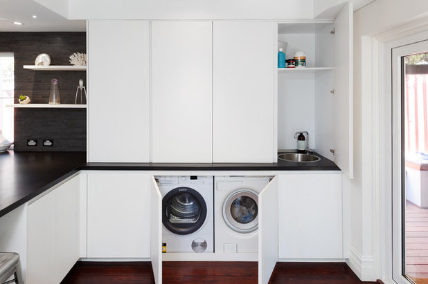 Modern Laundry Room by Retreat Design
