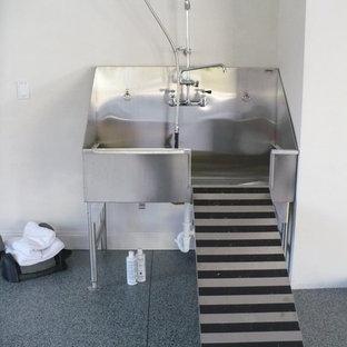 Idéer för att renovera en stor industriell tvättstuga, med en allbänk