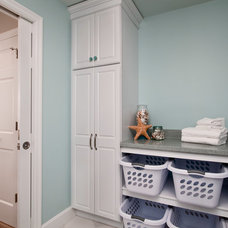Transitional Laundry Room by CUSTOM CRAFT CONTRACTORS INC