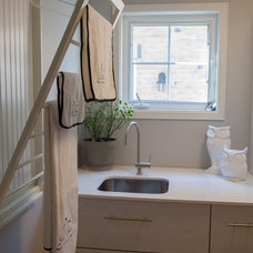 Transitional Laundry Room by Square Footage Custom Kitchens & Bath Inc.