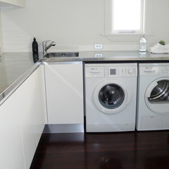 contemporary laundry room by Suzanne Allen