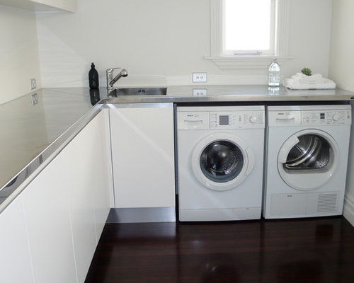 Clean Laundry Room Design Ideas Remodels Photos With An