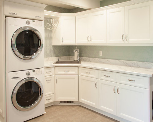 Laundry room design ideas remodels photos with plywood - Laundry room flooring ideas ...