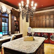 Mediterranean Laundry Room by Steve Murcko & Associates, Inc.