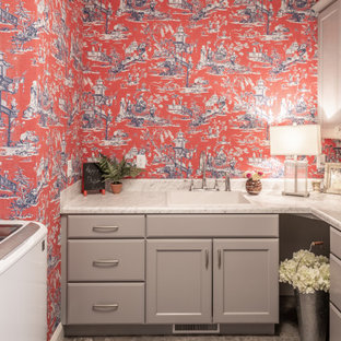 Pretty in Red Laundry Room