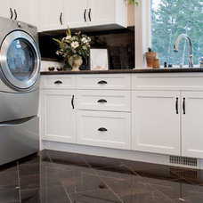 Traditional Laundry Room by Greystokes Millwork Ltd.