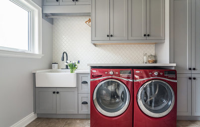 Blue, Green and Gray Cabinets Star in the Top New Laundry Rooms