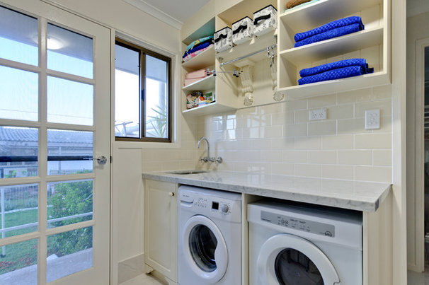 Traditional Laundry Room Provincial Cottage by the Sea
