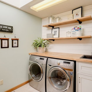 Inspiration for a timeless laundry room remodel in Raleigh
