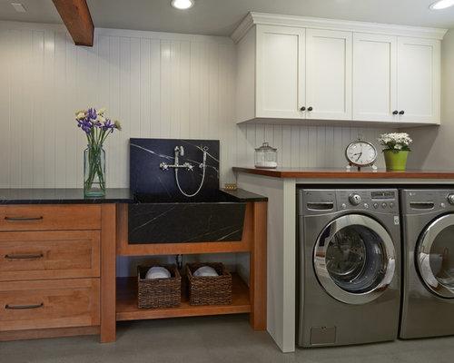 hauswirtschaftsraum mit speckstein arbeitsplatte und. Black Bedroom Furniture Sets. Home Design Ideas