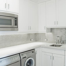 Contemporary Laundry Room by Hollub Homes