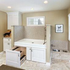 Transitional Laundry Room by S.J. Janis Company, Inc.
