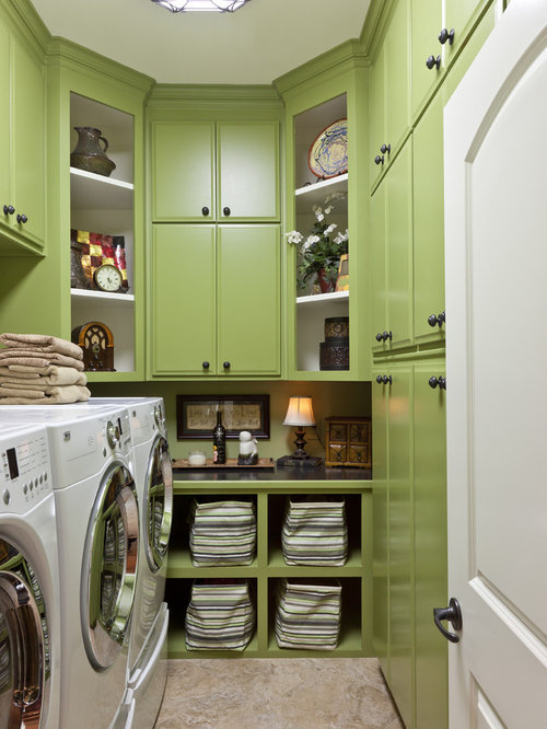 Inspiration For A Timeless Beige Floor Laundry Room Remodel In Little Rock  With Green Cabinets Part 96