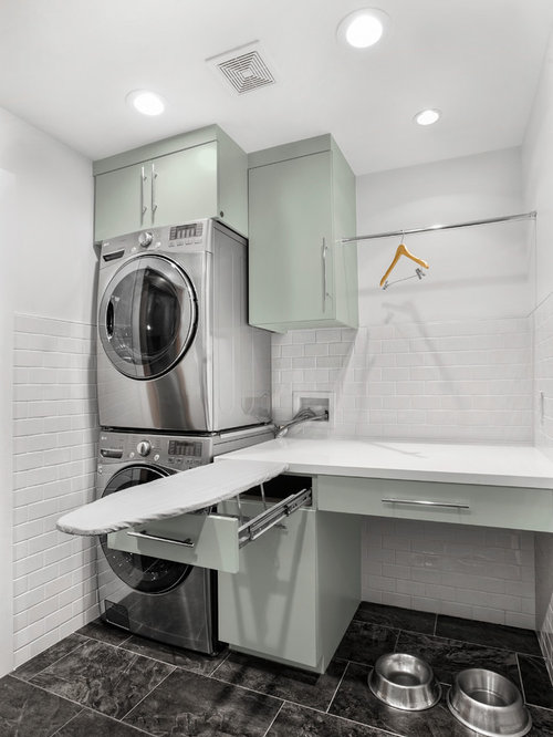 Midcentury Laundry Room Design Ideas, Remodels & Photos