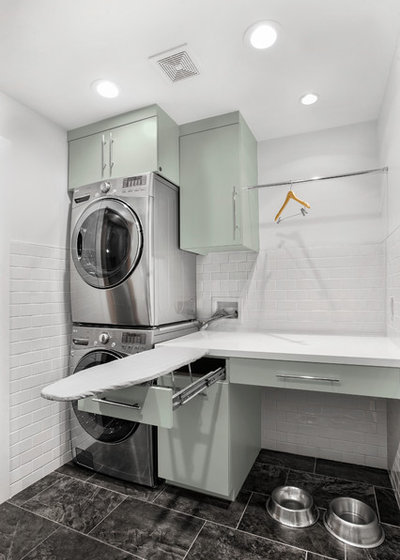Midcentury Laundry Room by RD Architecture, LLC