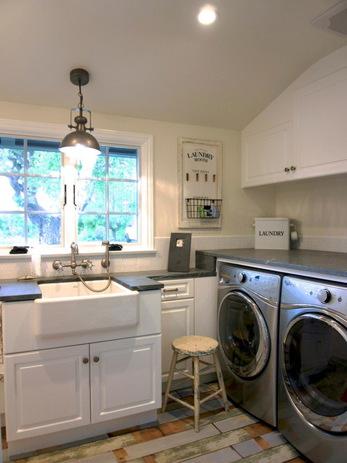 shabby chic style laundry room design ideas remodels