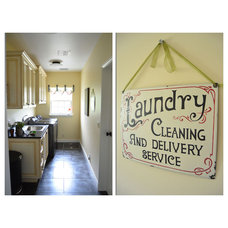 Eclectic Laundry Room by Amy Renea