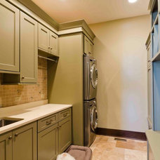 Traditional Laundry Room by Janine Severyns