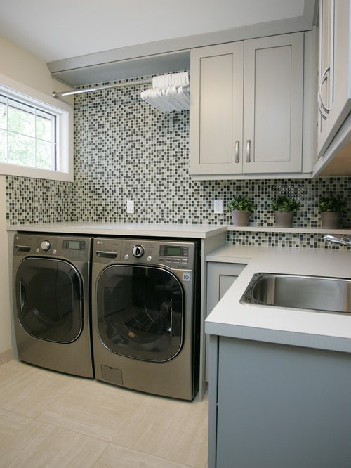 backsplash counter laundry room design ideas renovations photos