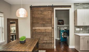 Reclaimed Wood Barn Door and Mirror