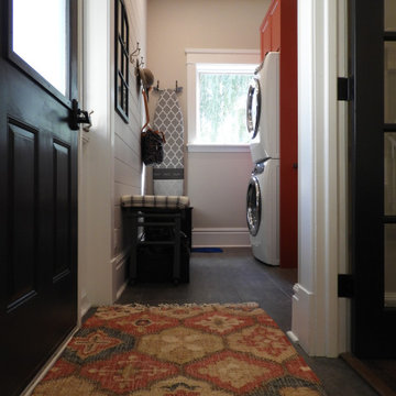 Red Laundry Room