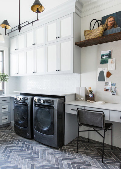 Farmhouse Laundry Room by Studio McGee