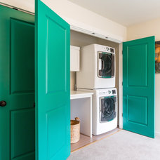 Transitional Laundry Room by Design Harmony