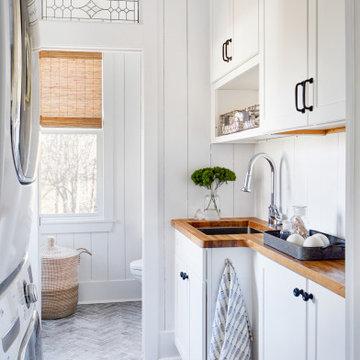 Refined Farmhouse Kitchen, Laundry + Bathroom Renovation