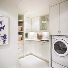 Traditional Laundry Room by Regina Sturrock Design Inc.