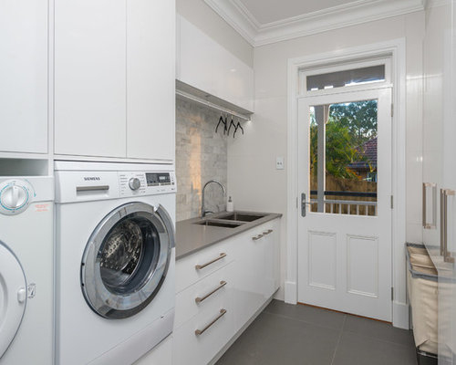 Galley Laundry Room Design Ideas Renovations Photos