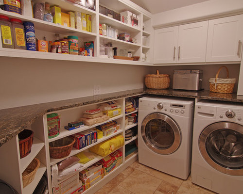 Laundry pantry combination houzz - Agencement cellier buanderie ...