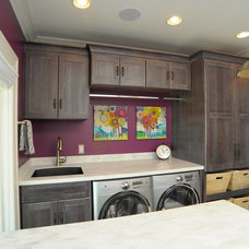 Transitional Laundry Room by Mullet Cabinet