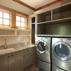 Traditional Laundry Room by Michelle Tumlin Design