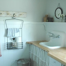 Farmhouse Laundry Room by Home & Harmony