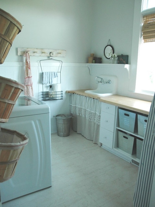 Under sink garbage bins houzz for Farmhouse sink for laundry room