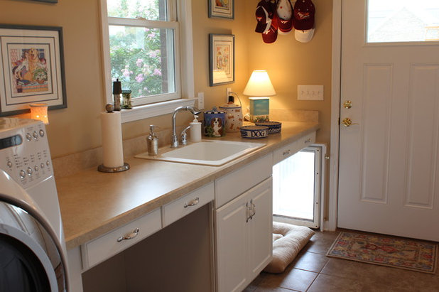 Traditional Laundry Room by Progress Street Builders