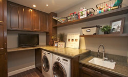 Robeson Design Laundry Room Craft Space Storage Solutions