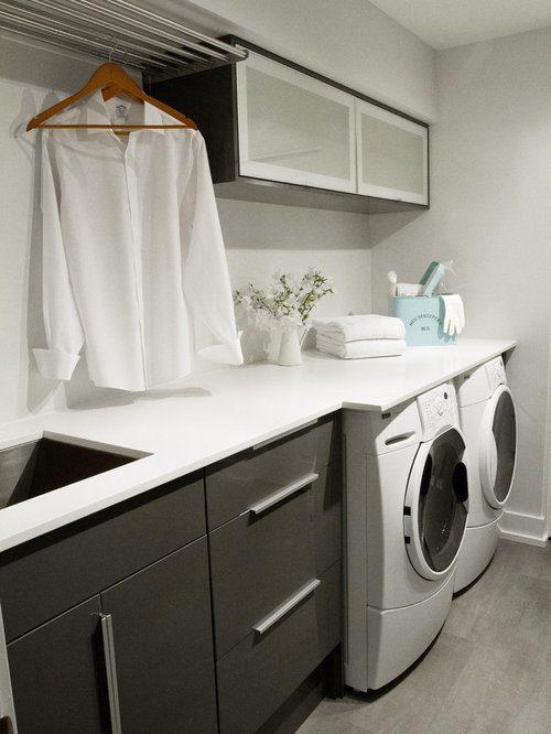modern laundry room flooring | Modern Laundry Room Design Ideas, Remodels & Photos with ...