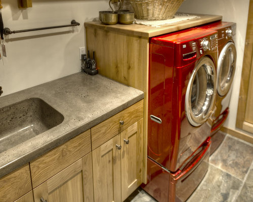 30 Trendy Rustic Laundry Room With An Integrated Sink
