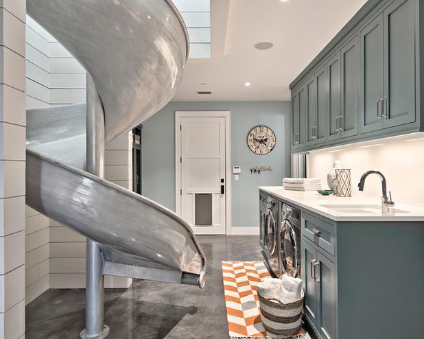 Country Laundry Room by Oliver Custom Homes