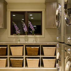 Contemporary Laundry Room by ZWADA home