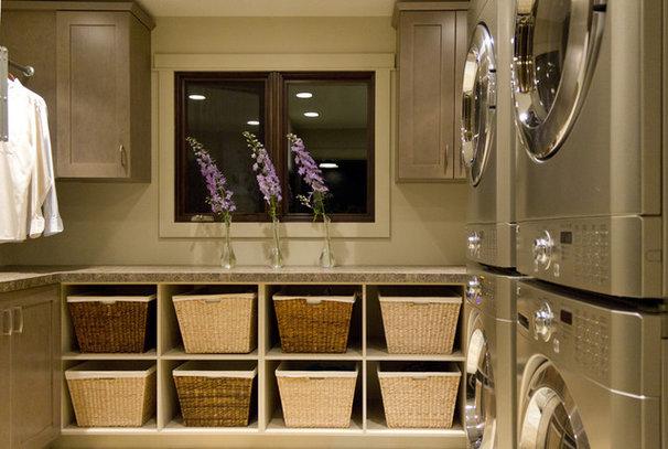 Contemporary Laundry Room by ZWADA home