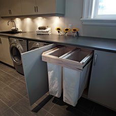 Transitional Laundry Room by R E Ringwald Design Build