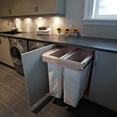 contemporary laundry room by Harvest House Craftsmen