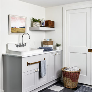 Laundry room - cottage laundry room idea in DC Metro